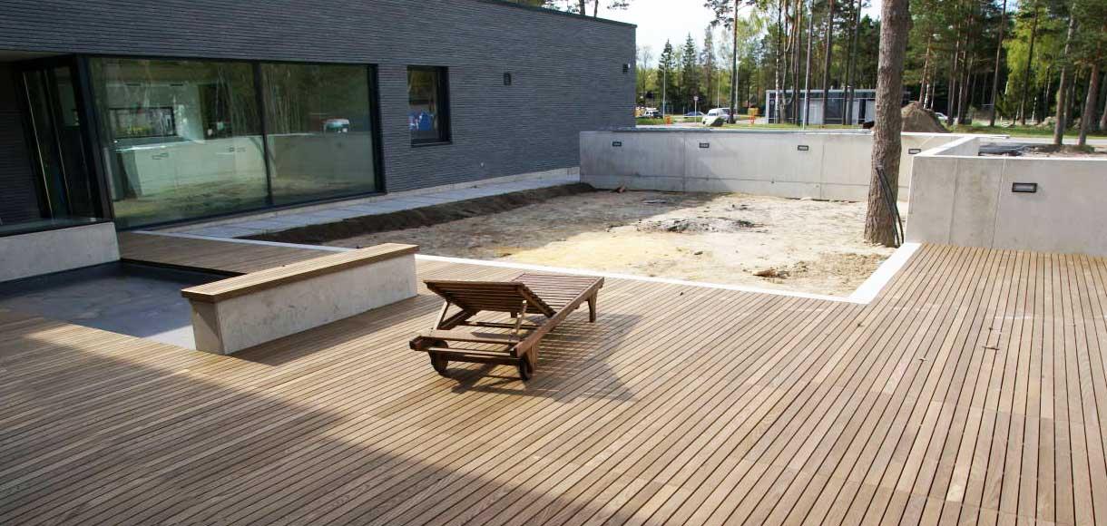 Houten de referentie voor uw houten terras - Zwembad terras hout photo ...
